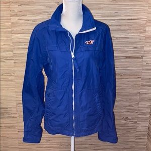 Hollister blue windbreaker EUC. Medium.